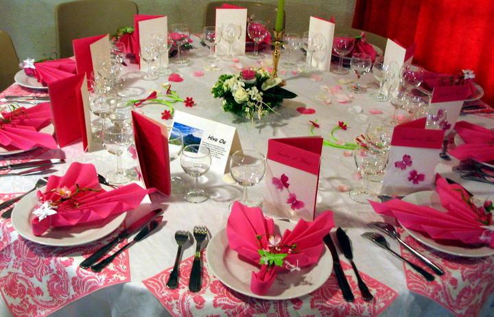 Les fleurs pour la d coration du mariage - Decoration de la table ...